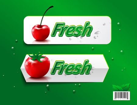 Fresh fruit organic farm design. suitable use for product, label, brochure etc. vector file