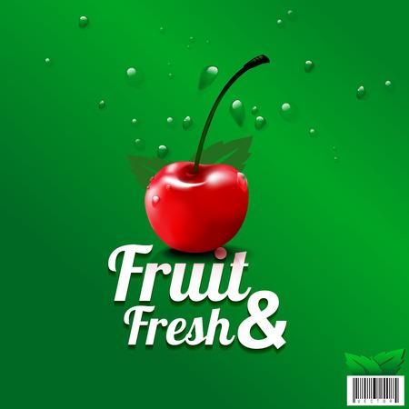 sweetener: Fresh fruit organic farm  design. suitable use for product, label, brochure etc. vector file