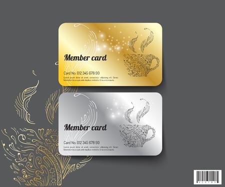 Vorlage Design Mitglied Karte. geeignete Verwendung für Kaffeegeschäft und andere.Vectro-Datei