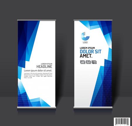 publication: Roll up business brochure banner design template vector, leaflet cover presentation abstract geometric background, modern publication x-banner and flag-banner. vector file Illustration