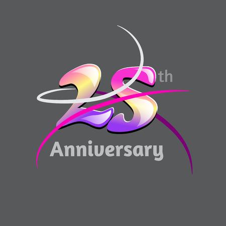 five years': twenty five years anniversary  symbol design. vector file