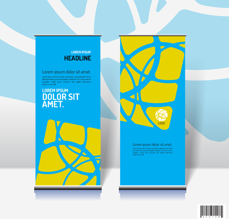 er: Template design for roll-up and others. vector file