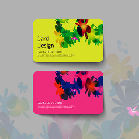 name calling: Card design with sweet flower concept. vector file
