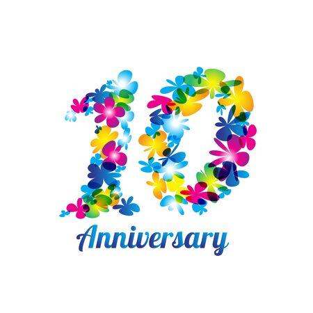 Anniversary design symbol. vector file Illustration