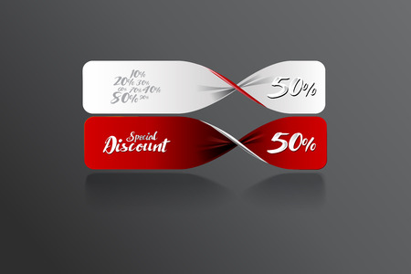 er: Special discount banner template design. vector file Illustration