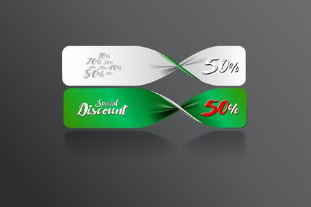 er: Special discount banner template design. vector file Illustration