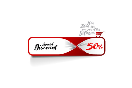 Special discount banner template design. vector file