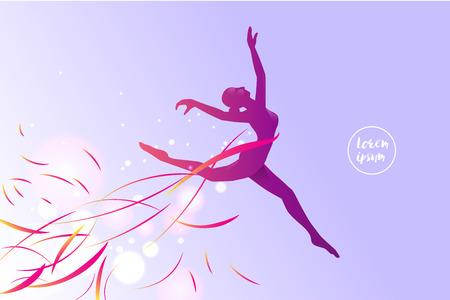 Le mouvement de ballet. silhouette d'une jeune fille de saut. utilisation appropriée pour le sport et l'action. illustration vectorielle