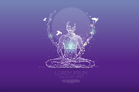 The particles, polygonal, geometric art - meditation