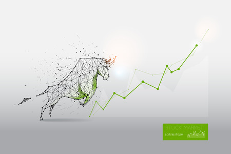 Graphic design concept of stock market trend Иллюстрация