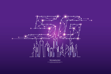 The particles, geometric art, line and dot of internet speed. abstract vector illustration. graphic design concept of technology. - line stroke weight editable