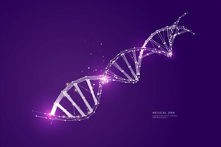 The particles, geometric art of DNA.