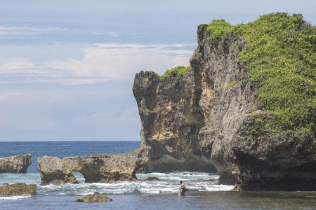 YOGYAKARTA: Scenic view of Ngandong Beach, Gunungkidul, Yogyakarta