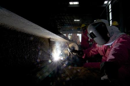 Shipbuilding construction at Port Klang Malaysia