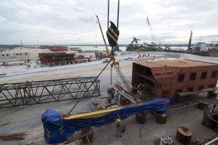shipbuilding: Shipbuilding construction at Port Klang Malaysia