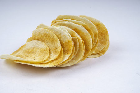 Chip on white background. Stock Photo