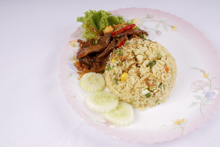 Asian fried rice.