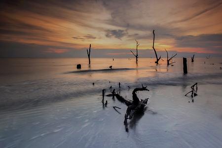 Amazing sunset at the beach.