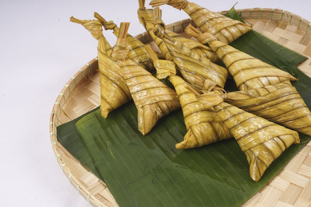 ramadhan: Ketupat or Dumpling Rice, a Malaysian or Indonesian food of day of celebration at end of fasting month, Ramadhan Stock Photo