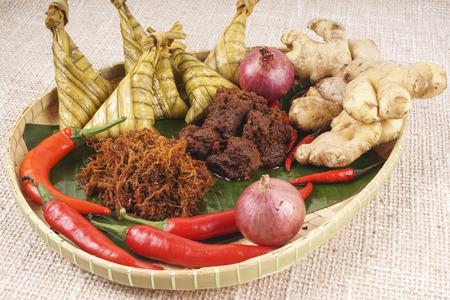 indonesian food: ketupat lebaran, Indonesian food for festive celebration