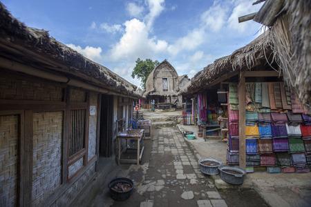 Traditional village at Lombok Foto de archivo