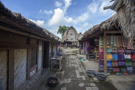 Traditional village at Lombok Stock Photo