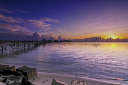 Sunset at Mabul Island.