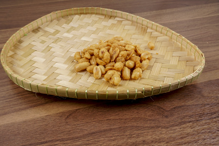 ground nuts: Ground nuts on the basket.