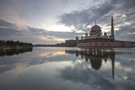 Putra Mosque  in Putrajaya at evening