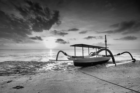 sanur: sunrise at Sanur Beach of bali, Indonesia