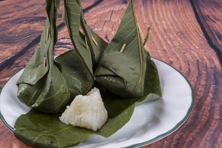 malay food: Tapai pulutis a traditional Malay food in asia.traditional food concept. DOF and copy space Stock Photo
