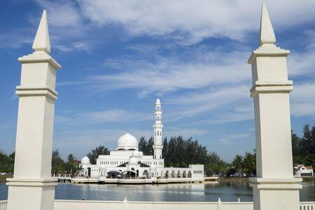 jama mashid: Blue sky at moasque. Stock Photo