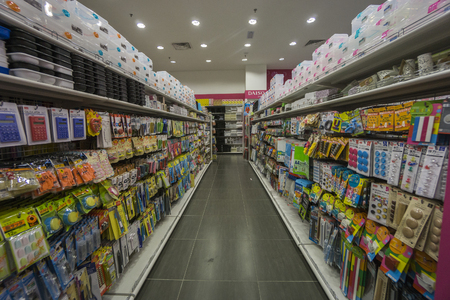 KUALA LUMPUR, 16 JANUARY 2017: Interior view of a Daiso shop on 16 January 2017. Daiso is the largest franchise of 100-yen-shops  with 2500 stores in Japan and 522 overseas. Editorial