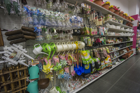 KUALA LUMPUR, 16 JANUARY 2017: Interior view of a Daiso shop on 16 January 2017. Daiso is the largest franchise of 100-yen-shops  with 2500 stores in Japan and 522 overseas. Redakční