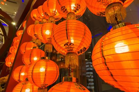 KUALA LUMPUR,20 JANUARY 2017. Chinese lantern decocation at hypermarket to spur CNY celebration.
