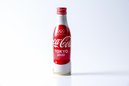 KUALA LUMPUR- MARCH 19, 2017: Coca-Cola world cups cans. Coca-cola is the worlds most selling carbonated soft drink Editorial