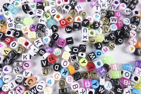 consonant: Colorful words as a background.