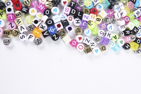 Colorful words as a background.