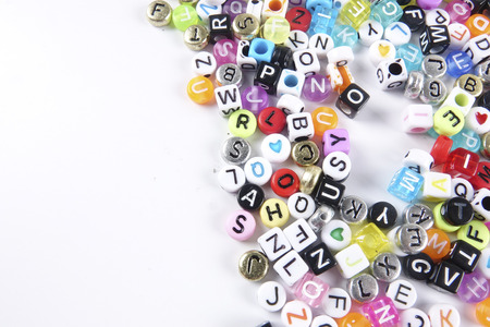 dyslexia: Colorful words as a background.