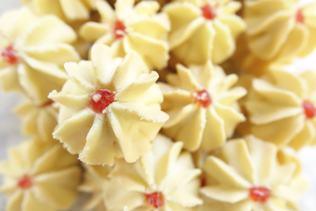 spongy: Traditional cookies for Eid celebration. Blur image