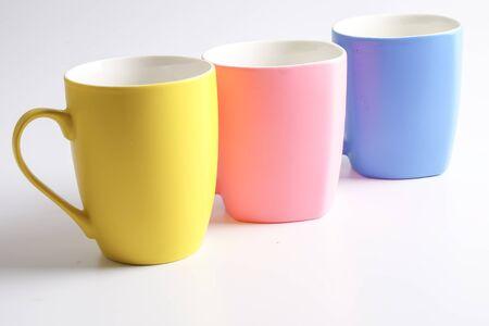 Colored mug isolated on white
