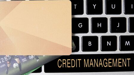 Internet security concept with card and black keyboard. 版權商用圖片