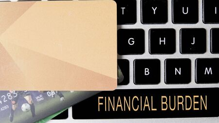 Internet security concept with card and black keyboard. Reklamní fotografie - 148815142
