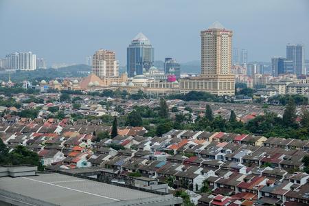KUALA LUMPUR, 15 SEPTEMBER 2017. Top view of urban city of Subang Jaya, Malaysia