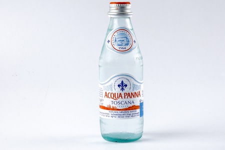 KUALA LUMPUR, 15 OCTOBER 2017. Acqua Panna Toscana mineral water. The most popular mineral water from Italy since 1954. Editorial