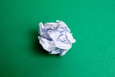 Crumpled paper ball. Banco de Imagens