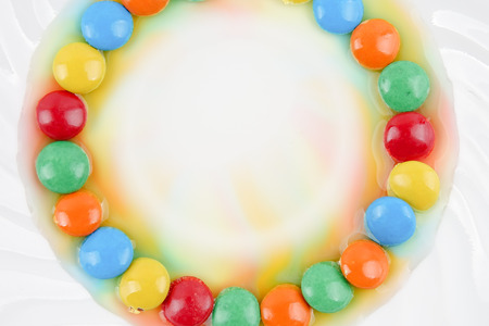 Colorful candy on a white background.