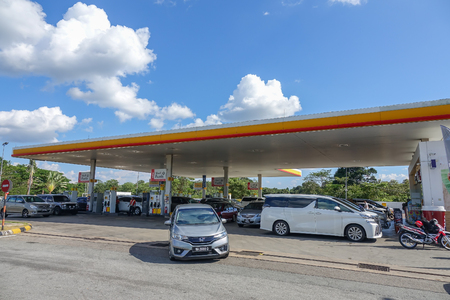KUALA LUMPUR, 3 MARCH 2018. Shell gas station on 2 MARCH 2018 in the highway of Kuala Lumpur, Malaysia. According to Fortune Global 500, Shell was the largest corporation in the world in 2009.