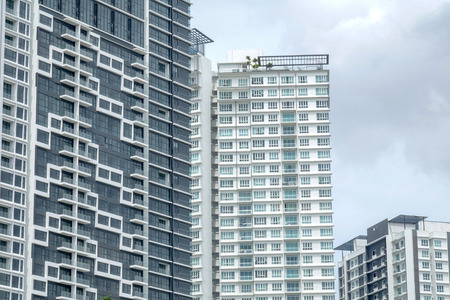 Modern residential high-rise buildings in Singapore 스톡 콘텐츠