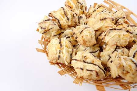 Traditional Malaysian cookies snack Stock Photo
